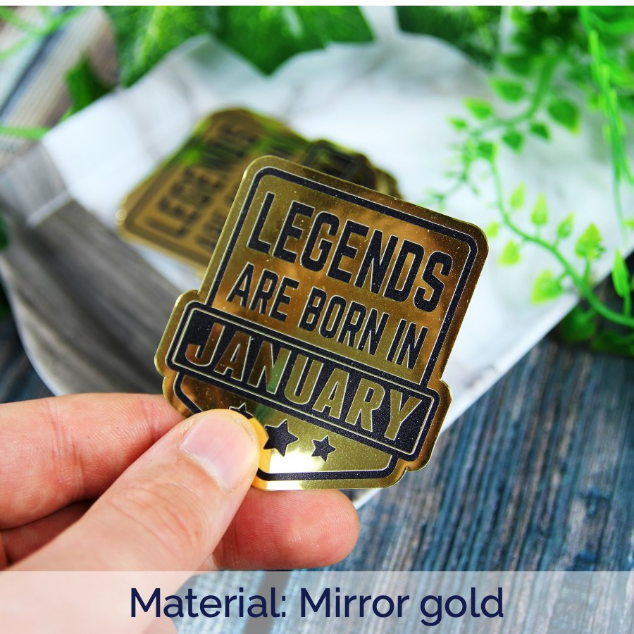 Mirror gold legends are born in January stickers