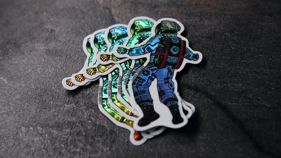 Holographic-James-Hersey-spaceman-sticker