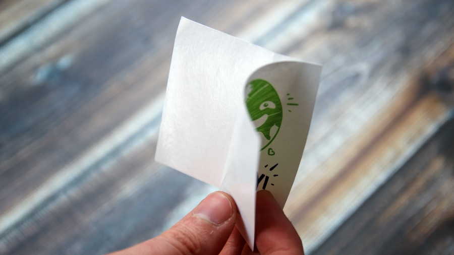 Biodegradable sticker backing paper