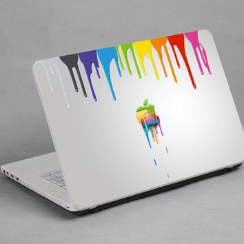 Paint drip sticker applied to a laptop