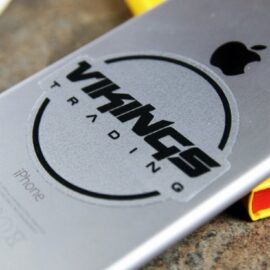 Clear die cut vinyl logo sticker