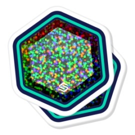 2 glitter die cut stickers stacked on top of each other