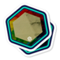 Mirror gold sticker product icon