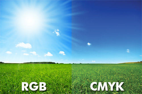 Comparison beween RGB and CMYK