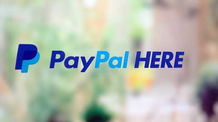 Clear PayPal window static cling sticker